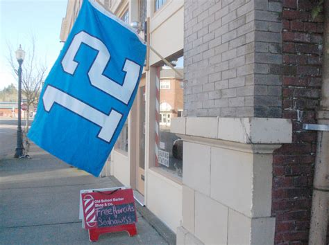 barber downtown olympia centralia barber shop offers free haircuts for seahawks