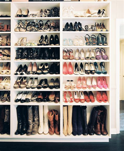 storage for shoes and boots shelves for boots contemporary closet lonny magazine