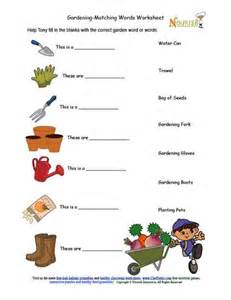 Garden Answer Tools Gardening Tools Matching Activity Sheet