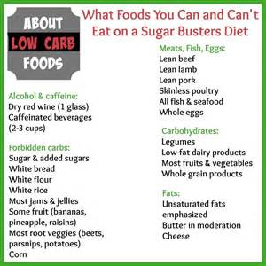 the sugar busters diet what you need to about low carb foods