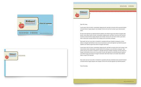 Microsoft Word Business Card Template School by Child Development School Business Card Letterhead