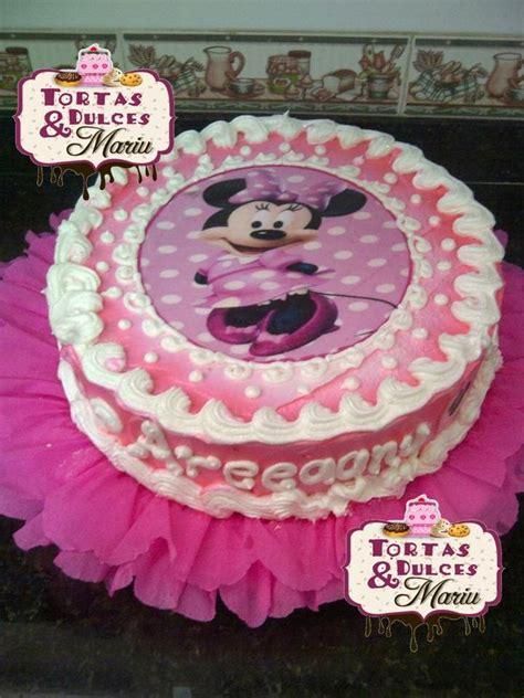 decoracion de tortas con crema de minnie torta de minnie decorada con crema imagui