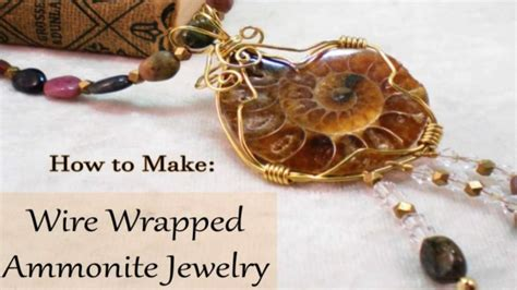 how to make sted metal jewelry how to make wire wrapped ammonite jewelry diy jewelry