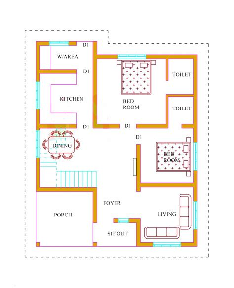 kerala house plans with estimate 20 lakhs 1500 sq ft