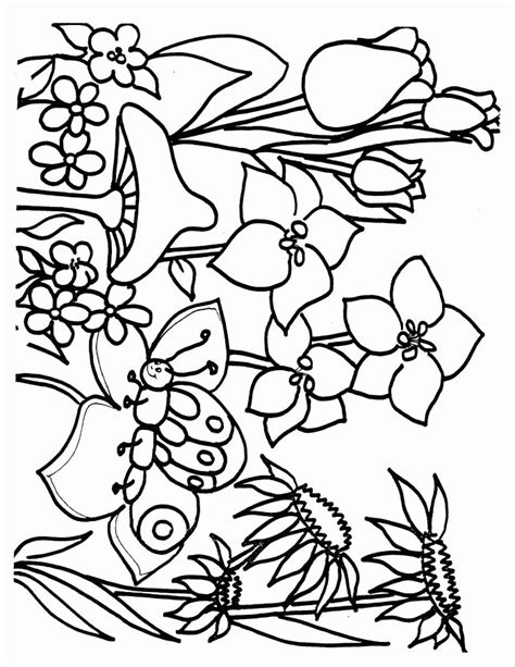 Springtime Printable Coloring Pages coloring pages coloringpagesabc