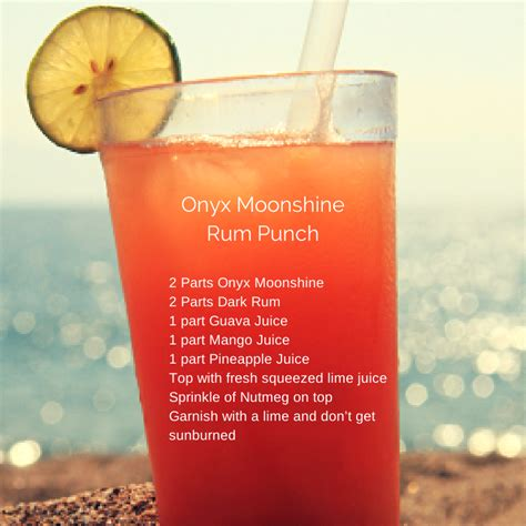 summer cocktail recipes onyx moonshine rum punch onyxmoonshine cocktail