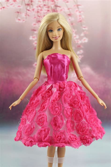 Lovely Fashion lovely fashion clothes flower dress for doll