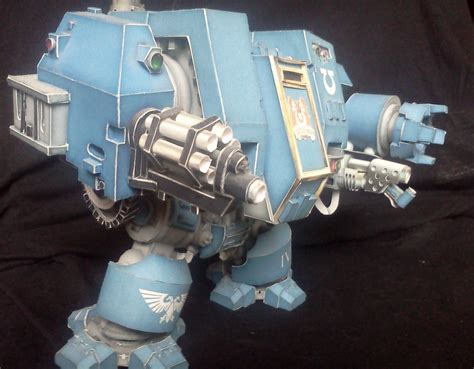 Warhammer 40k Papercraft - warhammer 40k space marine dreadnought mk v right by