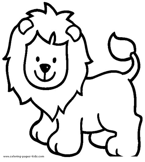 Simple Lion Coloring Page | simple lion color page
