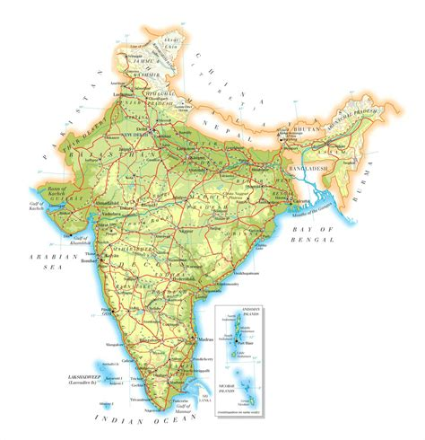 road map india to usa detailed road map of india india detailed road map