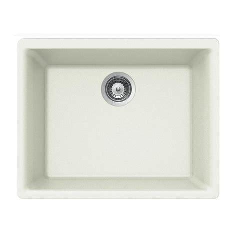 Houzer Kitchen Sink Houzer Quartztone Undermount Composite Granite 24 In 1 Single Basin Kitchen Sink In Cloud