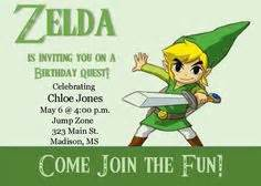 free printable zelda birthday invitations 1000 images about zelda themed birthday on pinterest