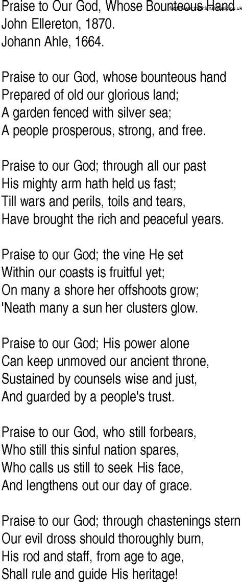 printable lyrics every praise is to our god pdf file the hand of god by elias raphael