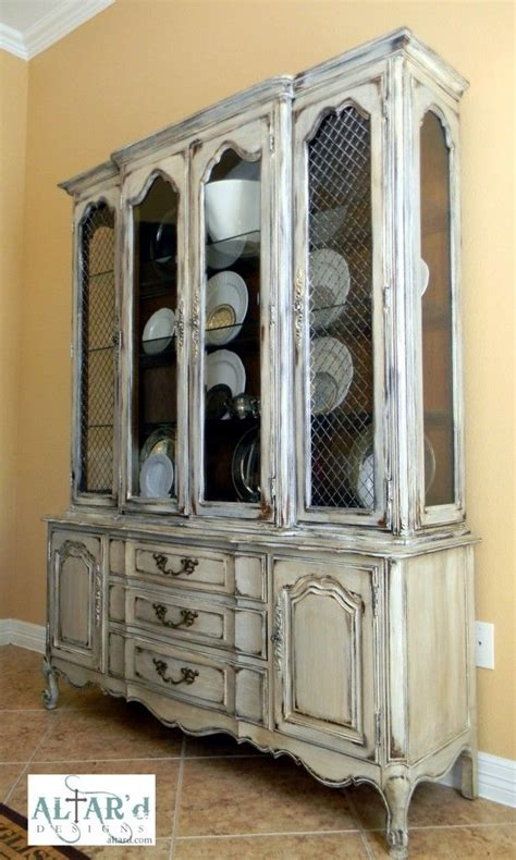 distressed china cabinet product 063 distressed china cabinet from altar d custom painted furniture a painted