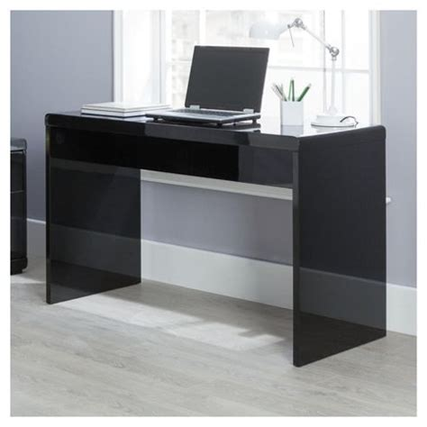 black gloss computer desk buy viva high gloss office desk black from our office