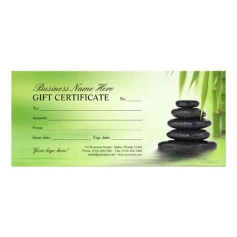 therapy gift certificate template 10 best gift certificate images on gift