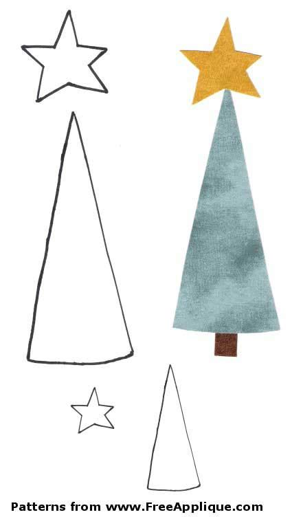 pattern for applique christmas tree tree applique pattern free patterns