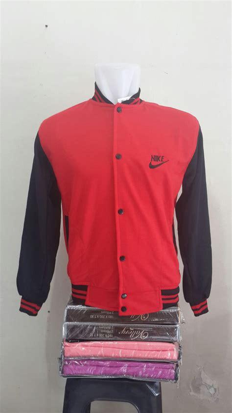 Jaket Pria Varsity Algazali Hitam jual jacket varsity nike merah hitam pusat fashion