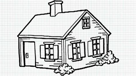 house to draw how to draw a house for kids youtube