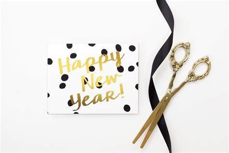 white new year new years card 2017 happy new years cards personalized black
