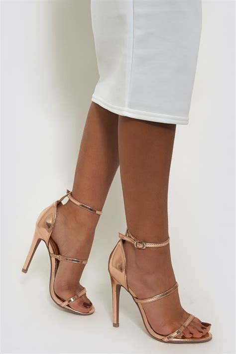 Strappy Heel gold strappy heels from the fashion bible uk