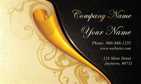 gold paper wedding business card design 701161