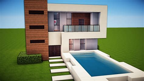 how to build a modern house in minecraft pe minecraft simple easy modern house tutorial how to