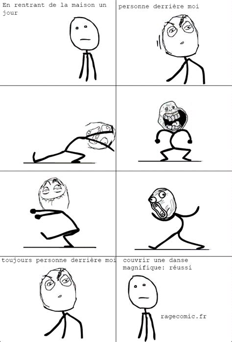 Meme Comic English - danse en public poker face rage comics francais troll