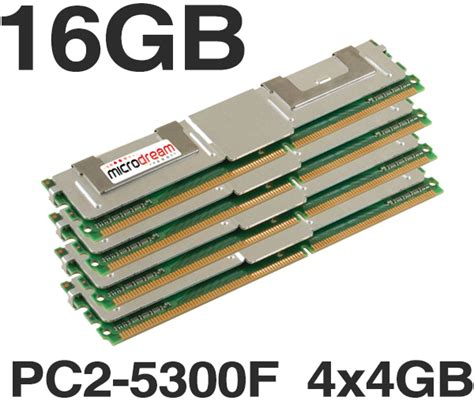 what is server ram 16gb 4x4gb ddr2 pc2 5300f 667mhz ecc fully buffered