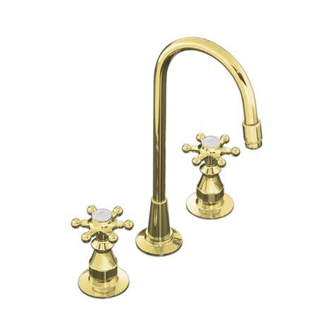 shop kohler antique vibrant polished brass 2 handle bar