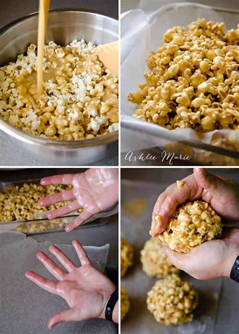 caramel popcorn balls ashlee marie