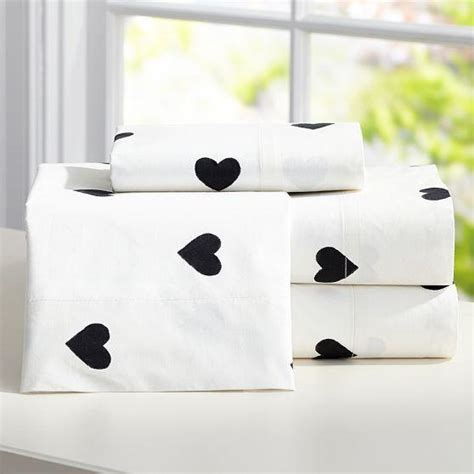 black and white bed sheets the emily and meritt black and white heart sheet set