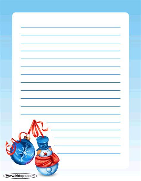 printable writing paper for christmas printable christmas writing paper
