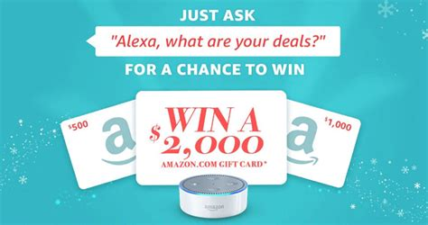 Shopping Sweepstakes - amazon sweepstakes ask alexa quot what are your deals quot to win sweepstakes lovers