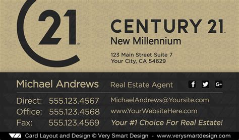 Century 21 Business Card Template by Real Estate Business Cards Logo Choice Image Card Design