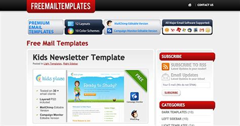 Finder Email Free The Best Places To Find Free Newsletter Templates And How To Use Them