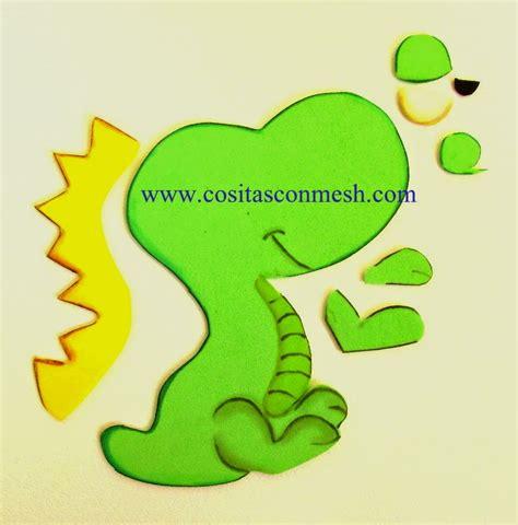 como dibujar un dinosaurio con goma eva manualidades para dia del ni 241 o dulcero dinosaurio