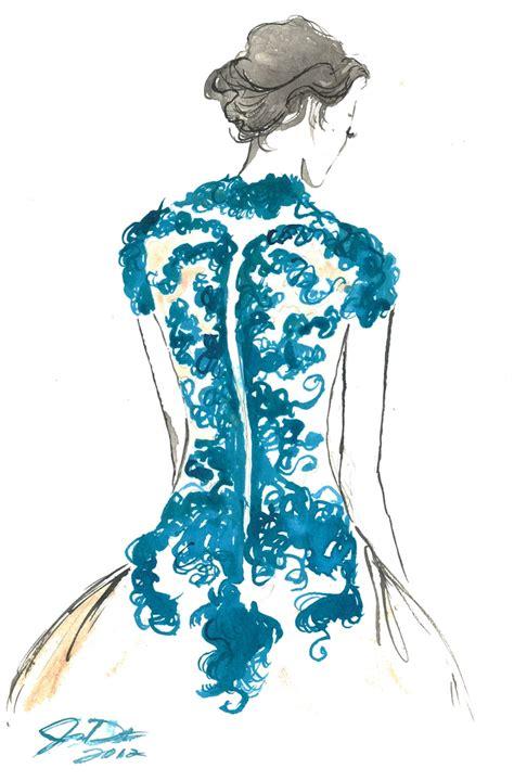 fashion illustration watercolor marchesa dress in watercolour by durrant fashion