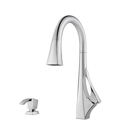 pfister vosa chrome one handle pull down kitchen faucet pfister nickel pull down faucet nickel pfister pull down