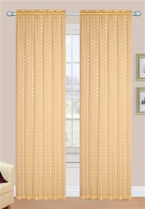 Gold Sheer Curtains Jacquard Semi Sheer Panels Gold Sultans Linens View All Curtains