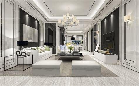 wallpapers stylish modern interior design living