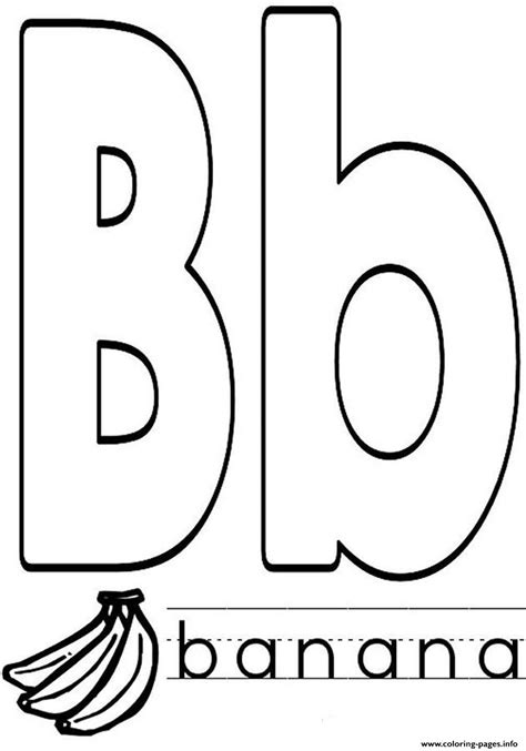 Name Letter B free coloring pages of b banana