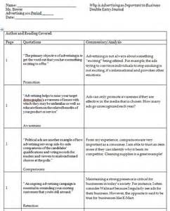 sided journal entry template entry journals exles language arts resources