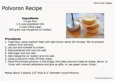 Make Plan polvoron recipe kusinera davao