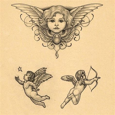 tattoo flash of angels see this instagram photo by mirjamschaerer tattoo 12