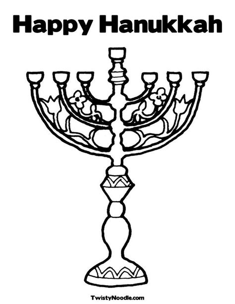 free happy hanukkah coloring pages