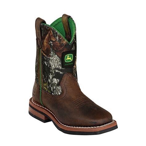 deere baby boots deere unisex brown camo top leather boots 11 3