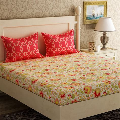most popular bed sheet colors bella casa 104 tc cotton double floral bedsheet buy