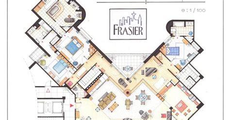 frasier apartment floor plan floor plan of frasier s apartment at the elliot bay towers