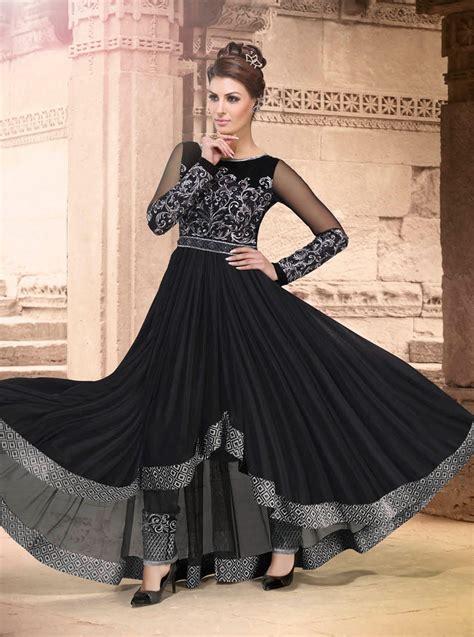 Indian Black Dress wear anarkali dresses shopping ohio black